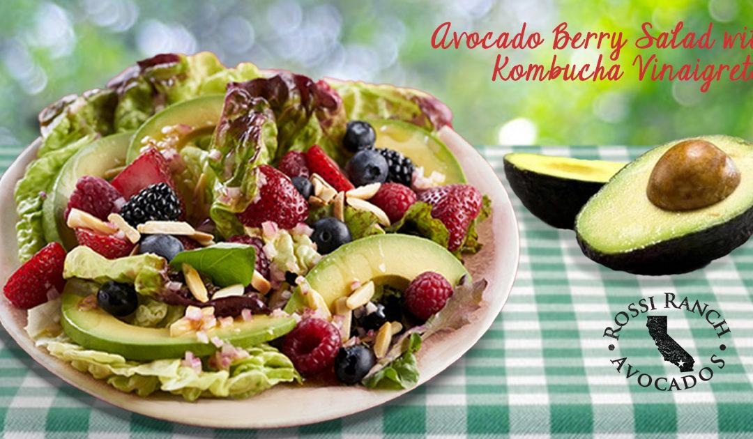 Avocado Berry Salad with Kombucha Vinaigrette