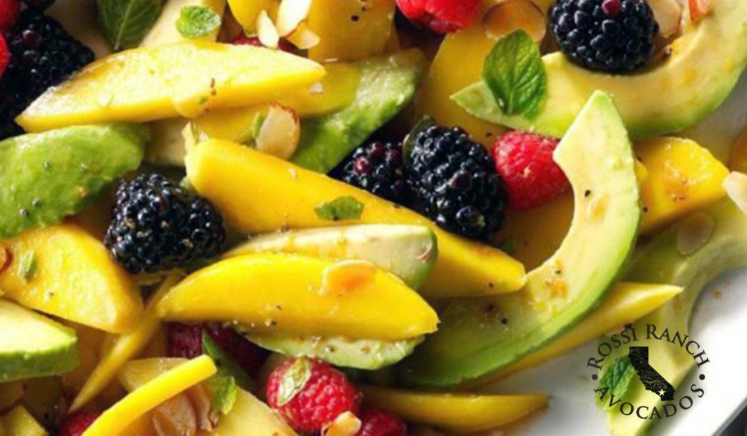 California Avocado Fruit Salad with Tangerine Vinaigrette